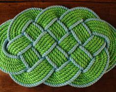 Nautical Decor - Rope Rug - Nautical Bath Mat - Nautical Gift - Cotton Bath Mat…