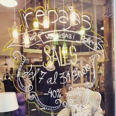 Rebajas #lettering #sale #shopping #sevilla Wabi Sabi, Art Quotes, Neon Signs, Lettering, Gallery, Instagram Posts, Shopping, Sevilla, Interiors