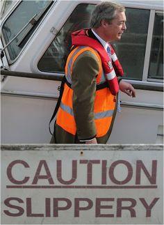 Ukip, Farage, Boat, Slippery