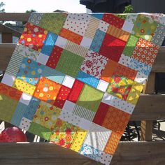 disappearing nine patch quilt top by stephjacobson, via Flickr  Instructions from cluck cluck sew