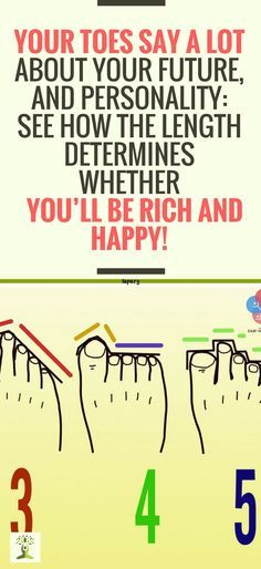 Your Toes Say a Lot About Your Future, and Personality: See How the Length Determines Whether You'll be Rich and Happy !!!