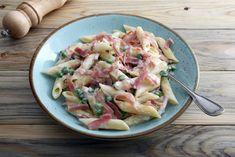 Sonkás-borsós tészta Cornwall, Pasta Salad, Potato Salad, Bacon, Prosciutto, Potatoes, Lunch, Eat, Ethnic Recipes