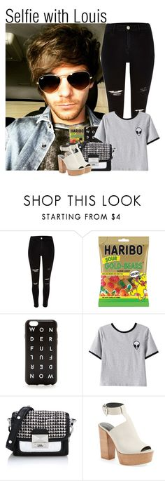 """""""Selfie with Louis"""" by fangirl-preferences ❤ liked on Polyvore featuring J.Crew, Chicnova Fashion, Karl Lagerfeld and Rebecca Minkoff"""