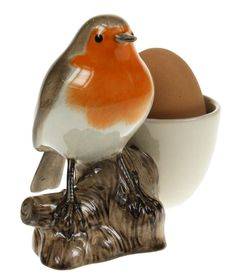Robin with Egg Cup