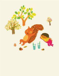 Animal & Me Notecards by apak on Etsy