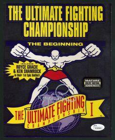 Royce Gracie Autographed 8x10 UFC 1 Promo Sheet w/JSA