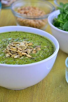Green Goddess Summer Soup. A refreshing, nutritious cold soup that's brimming with green vegetables like avocados, kale, cucumber and parsley. Chop, blend and the soup is ready. Use fully ripe avocados for extra creaminess, and use any leftovers as a dressing or a dip.