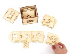 CODEBOX - wooden blocks to teach basic concepts of programming