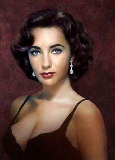 https://flic.kr/p/p94BBF | Greg Dubuque | Portrait of Elizabeth Taylor, one of the most beautiful women ever.