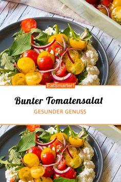 Tomatensalat auf körnigem Frischkäse | eatsmarter.de