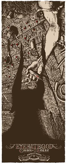 GigPosters.com - Eyehategod - Church Of Misery - Temple Of Nothing