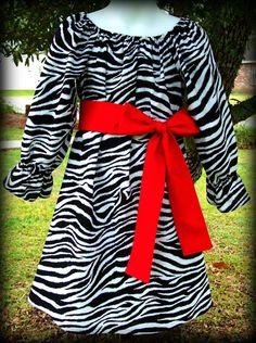 Custom Boutique Clothing Girls Zebra Holiday by sewsweetsmocking, $43.00