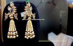 Peacock Polki Fancy Earrings