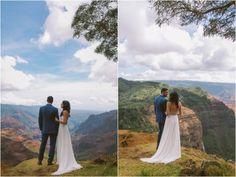 kauai hawaii, napali coast adventure elopement couple in the wiamea canyon