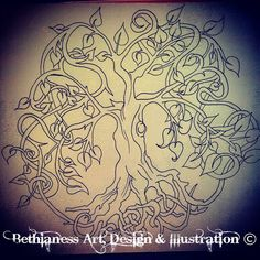 Tree of Life Outline by BethiaSantiWentworth