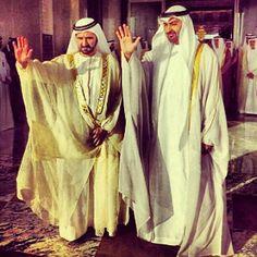 Mohammed bin Rashid bin Saeed Al Maktoum y Mohammed bin Zayed bin Sultan Al Nahyan Dubai UAE