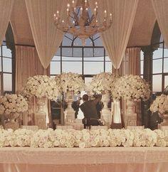 . Plan My Wedding, Dream Wedding, Wedding Ideas, Wedding Goals, Wedding Things, White Wedding Flowers, Floral Wedding, Glamorous Wedding, Elegant Wedding