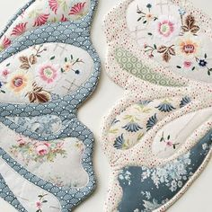 Beautiful vintage linens at the loveliest finishing touches to these Wife-made Butterfly Wings. Butterfly Template, Butterfly Wings, Fairy Birthday Party, Vintage Tablecloths, Quilting Designs, Free Pattern, Upcycle, Sewing Projects, Quilts