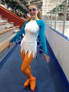 Zazu skating costume by Cara Anne Designs.