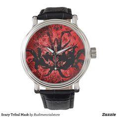 Scary Tribal Mask Wrist Watch