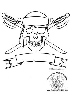 Skull and Crossbones Coloring Page- so cute for birthdays, halloween and any lit... - http://designkids.info/skull-and-crossbones-coloring-page-so-cute-for-birthdays-halloween-and-any-lit.html #designkids #coloringpages #kidsdesign #kids #design #coloring #page #room #kidsroom