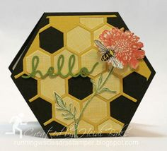 Hexagon Hello Bee Card by hlw966 - Cards and Paper Crafts at Splitcoaststampers