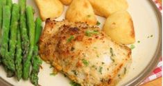 Baked Garlic Parmesan Chicken Use crushed plain pork rinds for bread crumbs. Baked Garlic Parmesan Chicken, Low Carb Chicken Recipes, Potato Recipes, Parmesan Potatoes, Marinated Chicken, Mashed Potatoes, Healthy Freezer Meals, Good Healthy Snacks, Healthy Eating