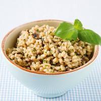 Fyldig byggotto med parmesan - Bruk byggryn isttedenfor ris, og du får byggotto - et litt sunnere alternativ.