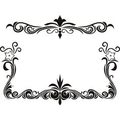 Black Flower Page Borders Design  sadiakomal