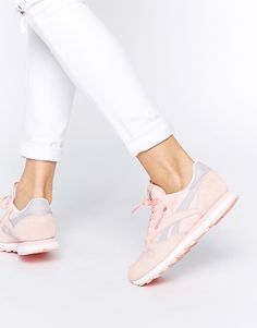 Reebok+Classic+Leather+Patina+Pink+Retro+Trainers