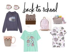 """Back 2 Pusheen for School"" by lilbubz ❤ liked on Polyvore featuring Pusheen, contestentry and PVxPusheen"