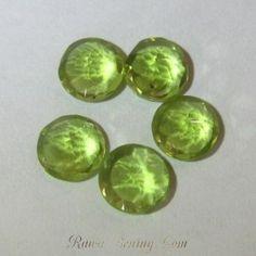 Permata Peridot 5 Pcs Bentuk Round 4mm Total 2.35 carat