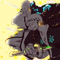 Trafalgar D Water Law Roronoa Zoro Zorojuro Straw Hat Pirates Mugiwaras Wano One Piece<br> Pirate Baby, The Pirate King, Anime One Piece, One Piece Fanart, Trafalgar Law Wallpapers, One Piece Pictures, Roronoa Zoro, Manga, First World