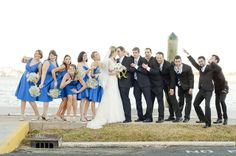 Fun bridal party poses // Bring props! // Classic Florida Wedding // #photography #wedding #bridal #party