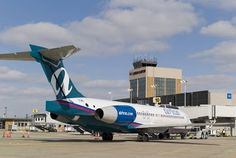Akron/Canton Airport. AirTran will soon be making its last flight from this or any airport since being bought by SouthWest. Bummer. This was the best airline *ever.*