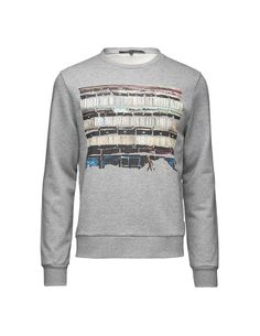 Hubertz print t-shirt - Men's long-sleeved t-shirt in French terry cotton. Features round neckline and seasonal Tiger of Sweden print at front. Ribbed trim at neck, cuffs and hem. Men's Sweatshirts, Tiger Of Sweden, Graphic Sweatshirt, T Shirt, French Terry, Cuffs, Neckline, Long Sleeve, Fit