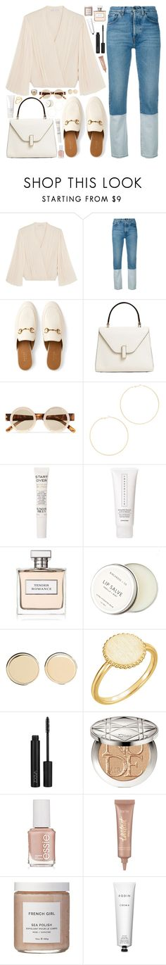 """L U X U R I O U S / /"" by queen-laureen ❤ liked on Polyvore featuring Alice + Olivia, Ports 1961, Gucci, Valextra, Le Specs, Kenneth Jay Lane, Sunday Riley, Chantecaille, Ralph Lauren and Birchrose + Co."