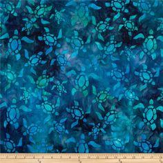 Artisan Batiks: Totally Tropical 2 Turtle Bermuda Blue$9.33 per yard