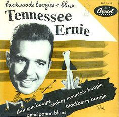 Tennessee Ernie Ford, Backwoods Boogie and Blues extended play. Tennessee Ernie Ford, Rare Records, Classic Album Covers, Rock Of Ages, Capitol Records, Album Releases, Extended Play, Corvettes, Lps