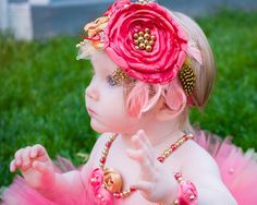 Large Over the top fancy baby girl headband by MalishkaBoutique