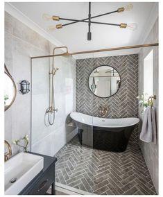 Diy Bathroom Remodel, Bathroom Renovations, Shower Remodel, Bad Inspiration, Bathroom Inspiration, Modern Bathroom Design, Bathroom Interior Design, Latest Bathroom Designs, Vinyl Decor