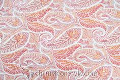 Gatsby-Sunrise - This brand new pumpkin and red paisley blends with a variety of decor styles, and it can be used for lots of different projects.