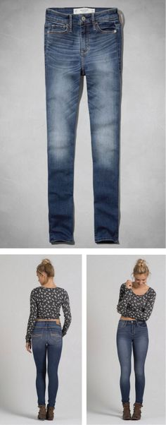 Abercrombie Super Skinny High Rise Jeans