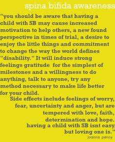 Spina Bifida Awareness <3 Spread the Love!  @Joanna Penny