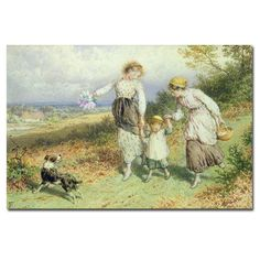 Returning from the Village by Myles Foster Painting Print on Canvas