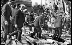 The Rose Parade 1895 – 1948.  Jan. 1, 1926: A victim is removed after the collapse of a Rose Parade grandstand at Colorado Boulevard and Madison Avenue. Eleven people died from injuries sustained in the collapse.  Visual Storytelling from the Los Angeles Times