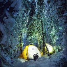 """Winter camping on Mt. Hood #Oregon  Photo: @leiferiksmith  #wildernessculture"""