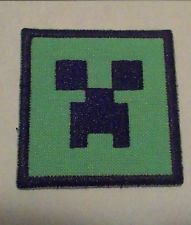 """MINECRAFT Inspired """"Creeper"""" Embroidered Patch- 2x2 Iron On Free Shipping!!"""