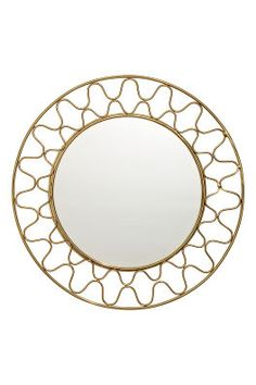 Round mirror with a metal frame. Loop at back for hanging. Screws not included. Diameter of mirror 9 in. diameter with frame 15 in. Pot Storage, Storage Mirror, Fragrant Candles, Scented Candles, New Interior Design, H&m Home, Metal Mirror, Round Mirrors, Color