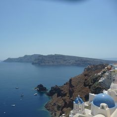 Blue chapel in santorini. Classic photo!
